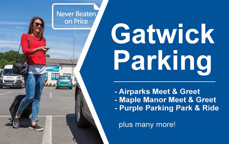 Gatwick parking compare airport parking deals save up to 60 best price guarantee m4hsunfo Image collections